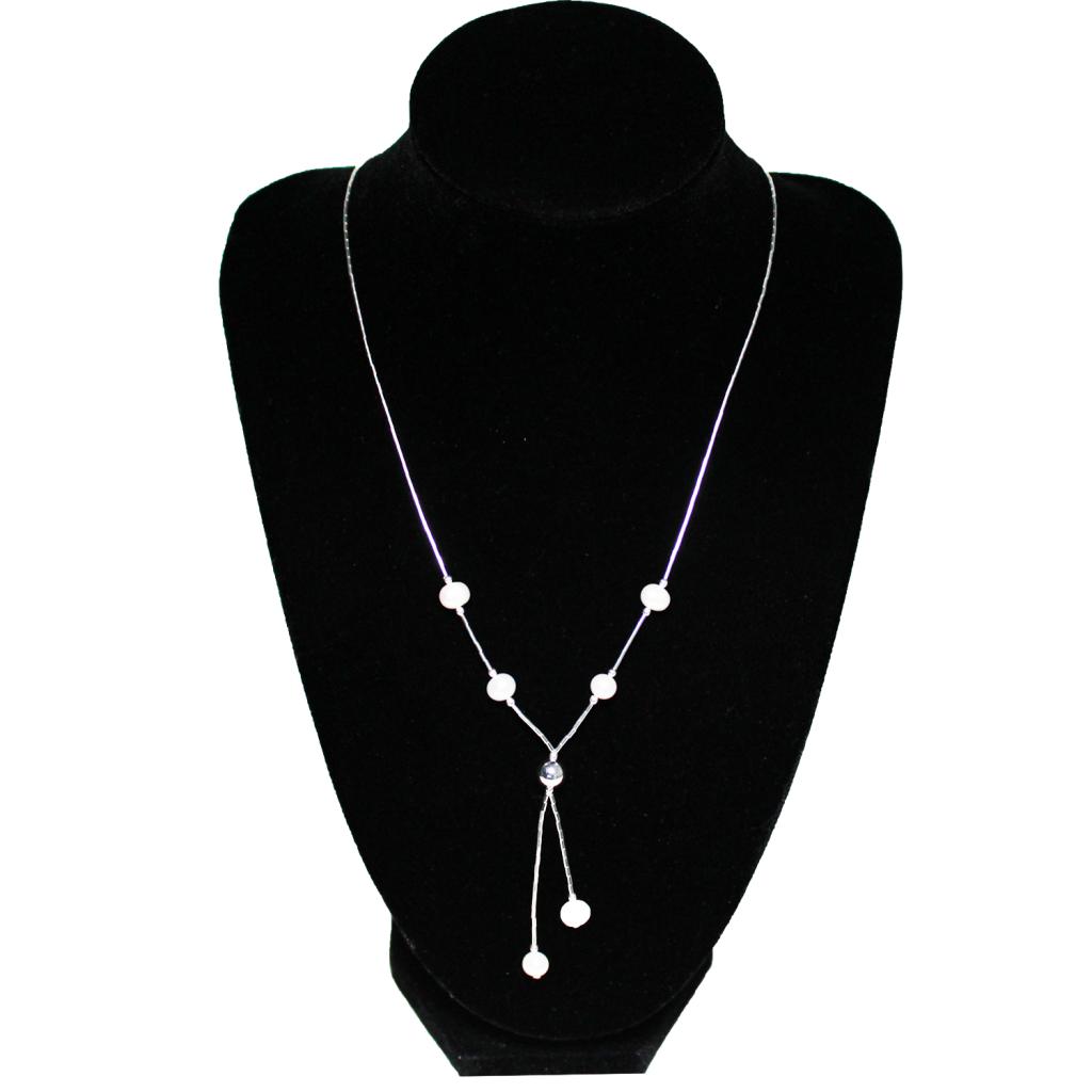 2e101b2798e3 Collar mostacilla de plata con madre perla - MpSilver